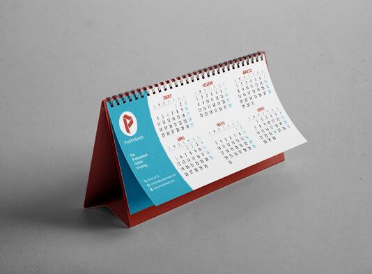 Imprimir calendarios de mesa personalizados con wire-o negro personalizado - ProPrintweb