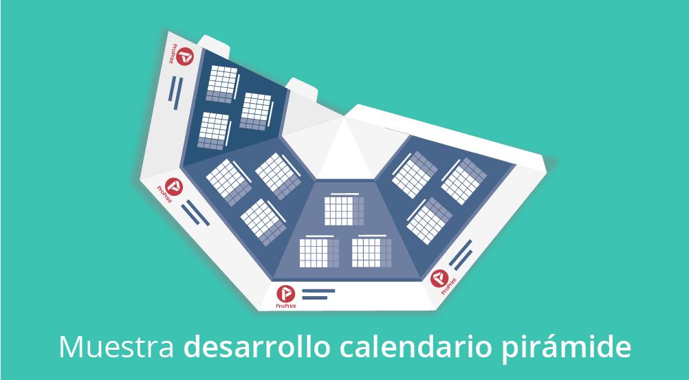 Muestra calendario pirámide automontable desarrollo