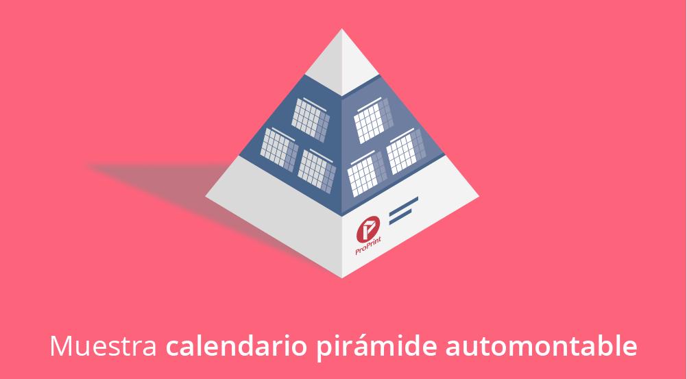 Calendario pirámide automontable