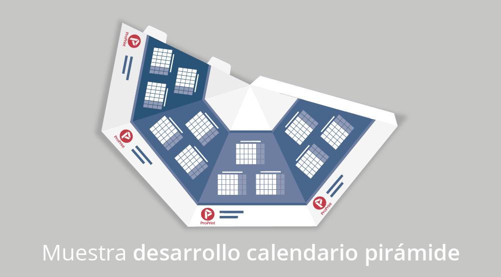 Calendario pirámide automontable desarrollo