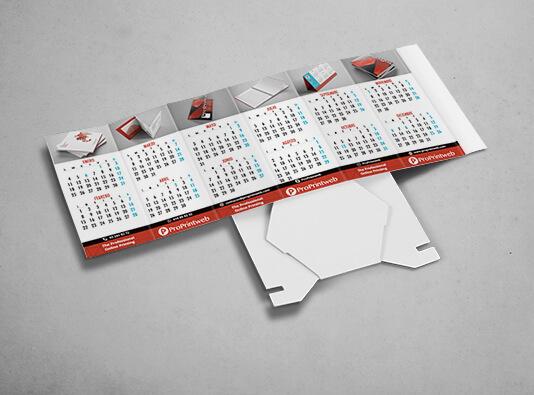 Impresión de calendarios portabolis hexagonal abierto - ProPrintweb
