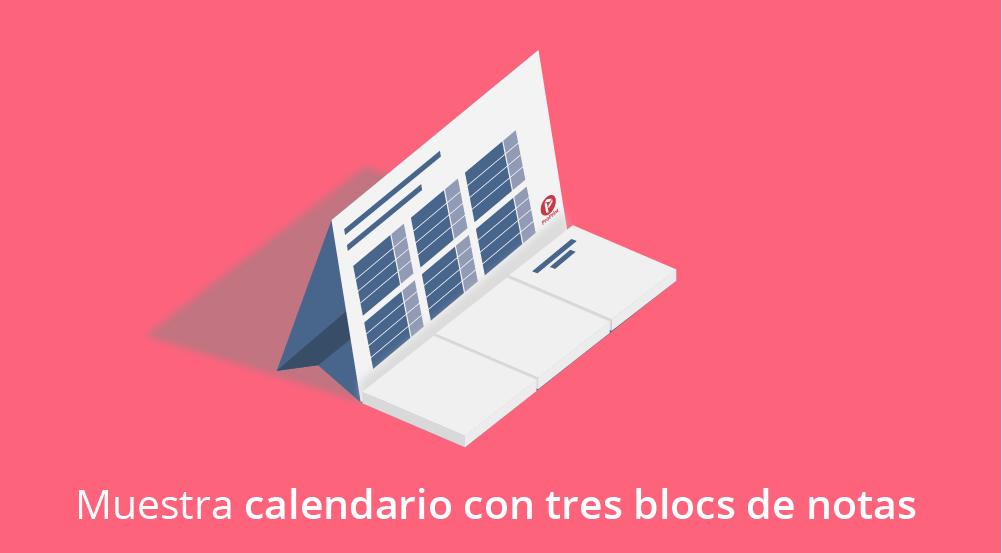 Calendario personalizado sobremesa con bloc de notas