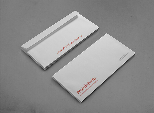 impresión sobres americano tamaño 115x225 mm - ProPrintweb