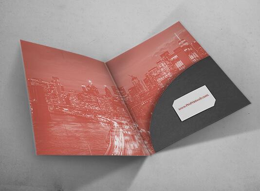 Imprimir carpeta A4 troquelada #466 con solapa - ProPrintweb