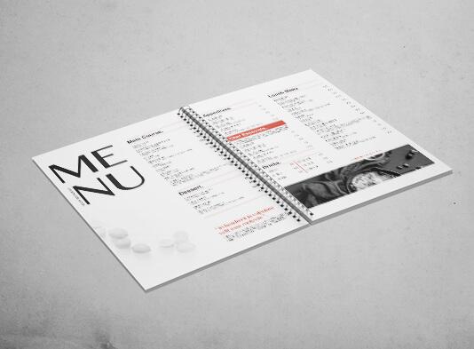 impresión cartas restaurante espiraladas - ProPrintweb
