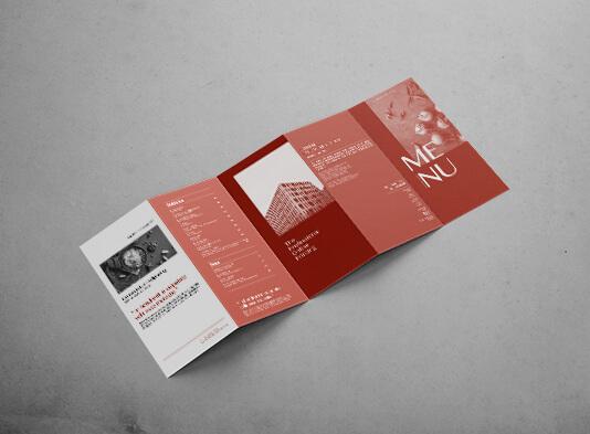 Imprimir cartas restaurante plegadas 5 cuerpos - carta gastronomica