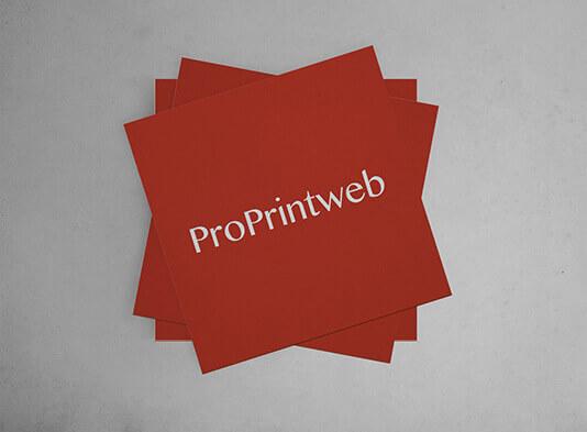 Imprimir tarjeta visita cuadrada - ProPrintweb