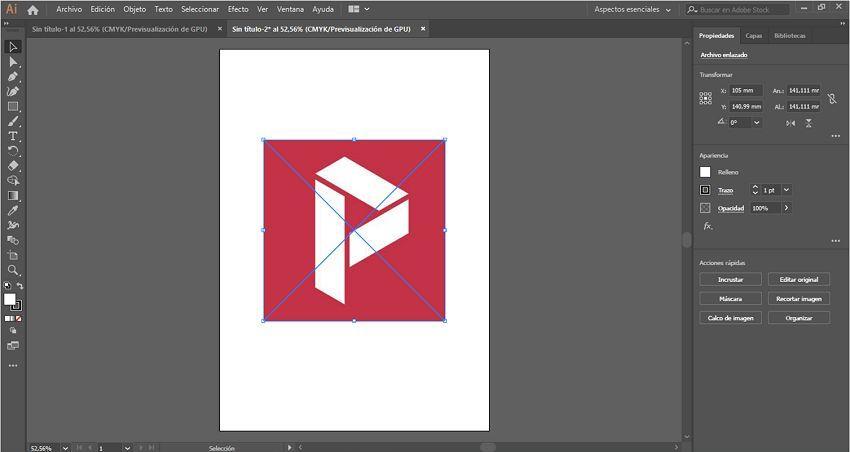 incrustar imagen en illustrator 2