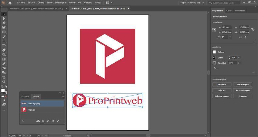 insertar imagen en illustrator 4