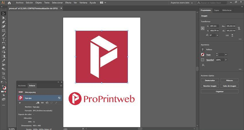incrustar imagen en illustrator 6