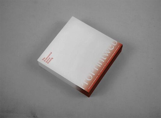 Impresión de tacos de papel personalizados cuadrados