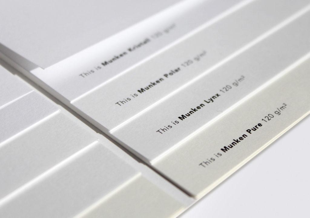 Papel offset creativo de marca - Munken