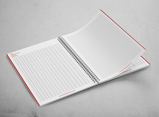 Impresión Libretasespiraladas corporativas - interior - ProPrintweb