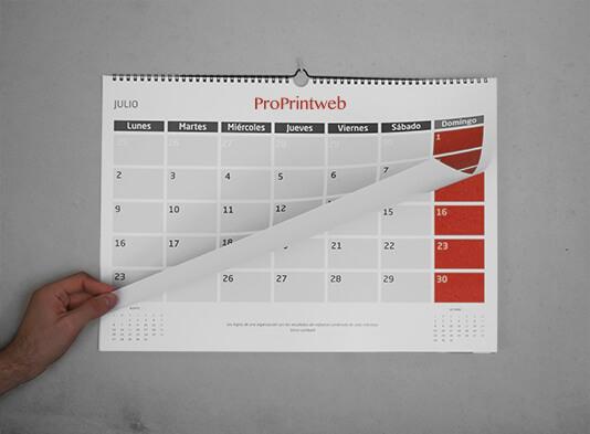 imprimir calendario colgador wire-o - ProPrintweb
