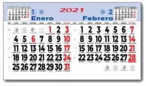 descubre calendarios personalizados faldilla bimensuales