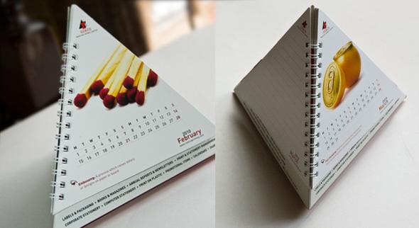 Imprimri Calendario espiralado tipo piramide - 2021