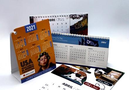calendario sencillo encolado con esquina cuelga mascarillas - 2022 ProPrintweb