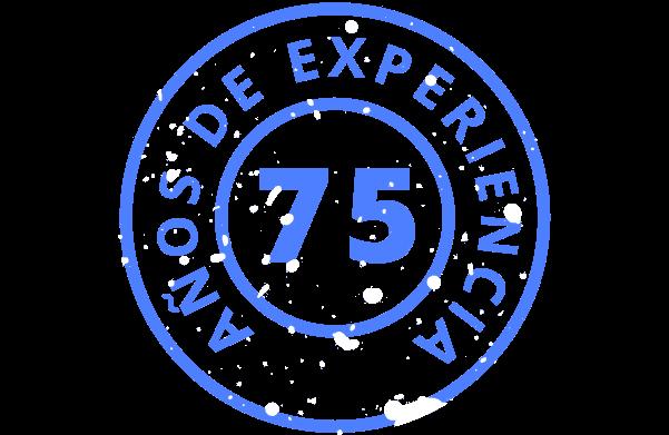 75 años de experiencia